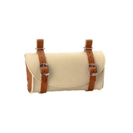 Handbag saddle Leatherlike cream / honey