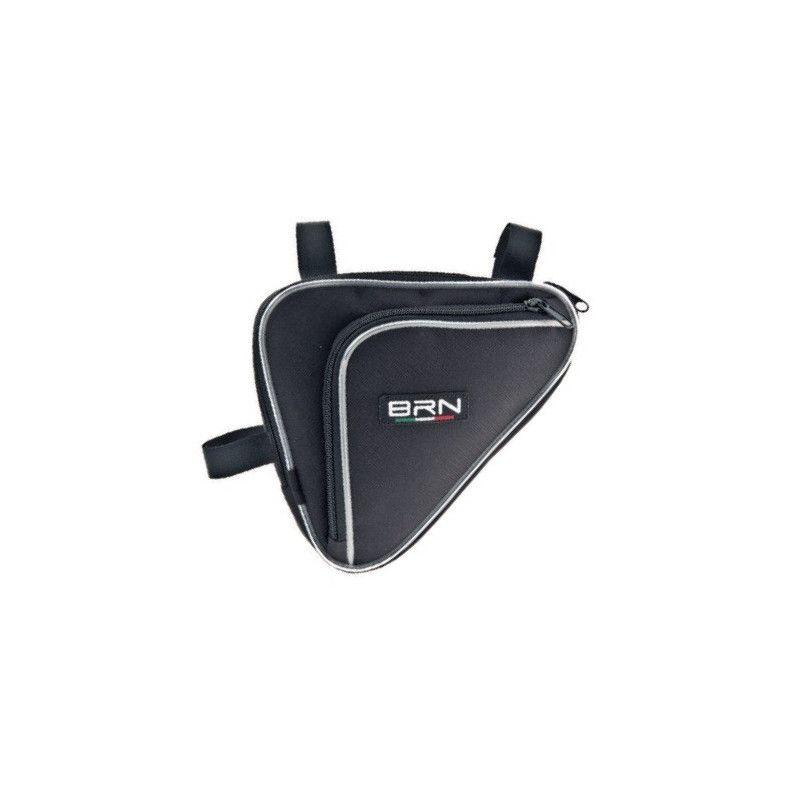 Handbag double pocket black triangle BRN - 1