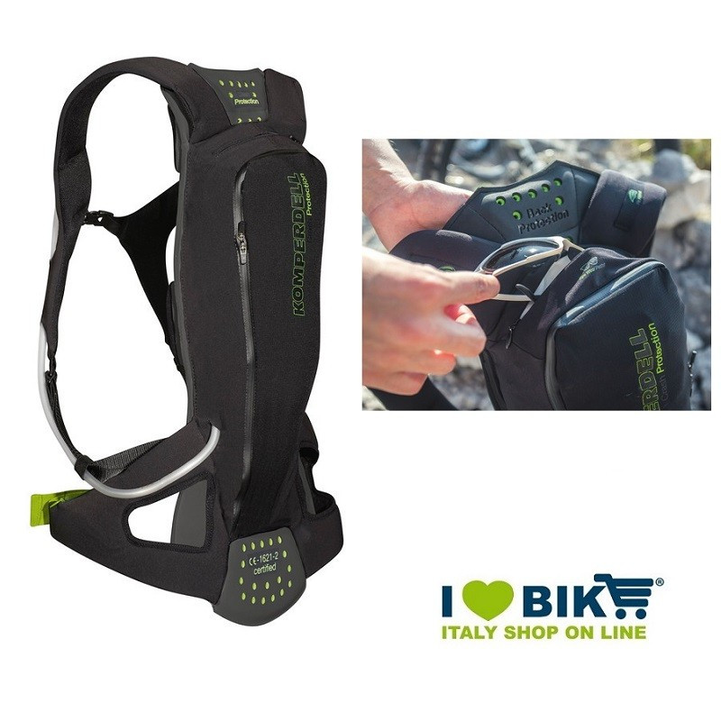 Zaino protettore Komperdell Litepack sacca idrica 1.5L XS  bike shop