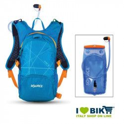 Zaino water bag Source Fuse 2-6 L Azzurro con sacca idrica bike shop