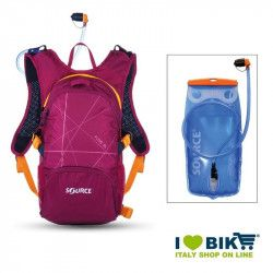 Zaino water bag Source Fuse 2-6 L Lilla con sacca idrica bike shop