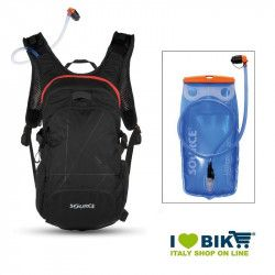 Zaino water bag Source Fuse XL 3-9 L nero/rosso con sacca idrica bike shop