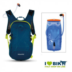 Zaino water bag Source Fuse XL 3-9 L blu con sacca idrica bike shop