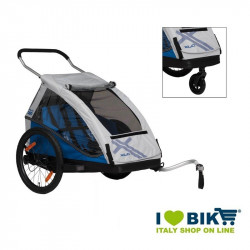 Childrens trailer XLC Duo² Blue online sale