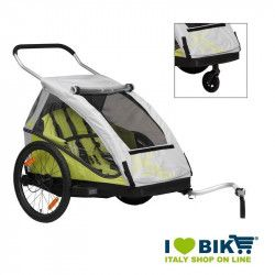 Childrens trailer XLC Duo² Lime online sale