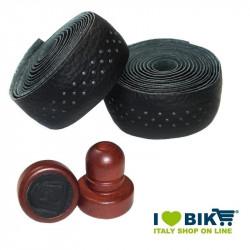 Black leather Brave Classics handlebar tape