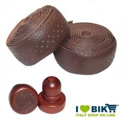 Brown leather Brave Classics handlebar tape