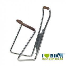 Portaborraccia Brave Classics in alluminio con cuoio marrone bike store epoca