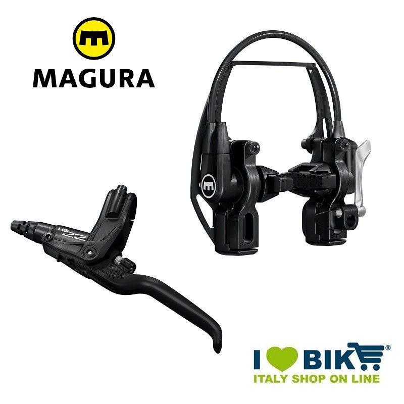 Freno V-Brake idraulico Magura HS22 leva a 3 dita nero