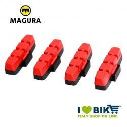 Ricambio pattini Magura V-brake mescola rosssa bike shop