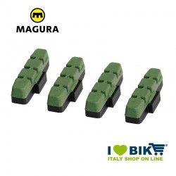 Ricambio pattini Magura V-brake mescola verde bike shop